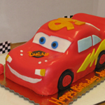Lightening McQueen 3-D Birthday Cake.